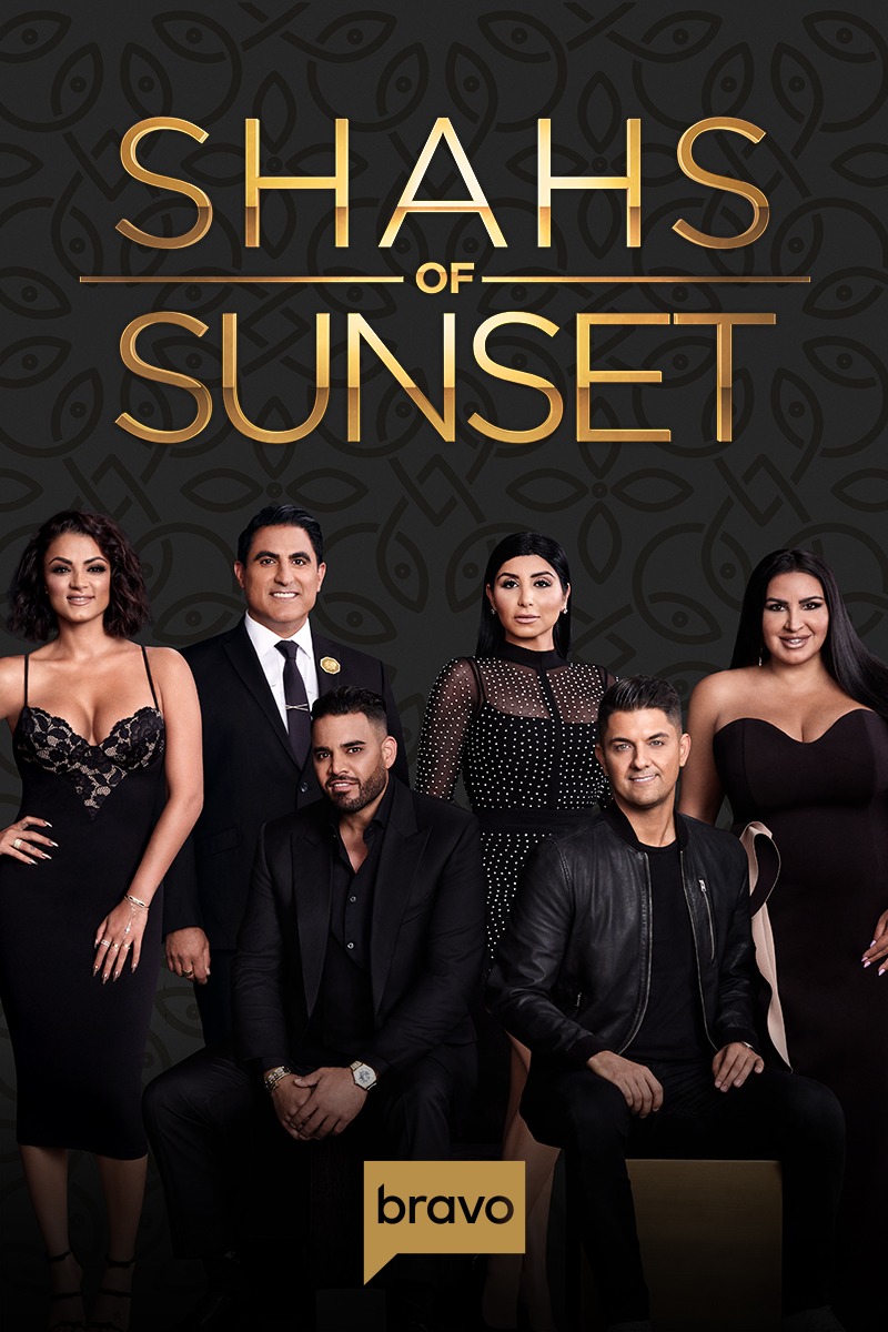 "cover design for ""Shahs of Sunset"""