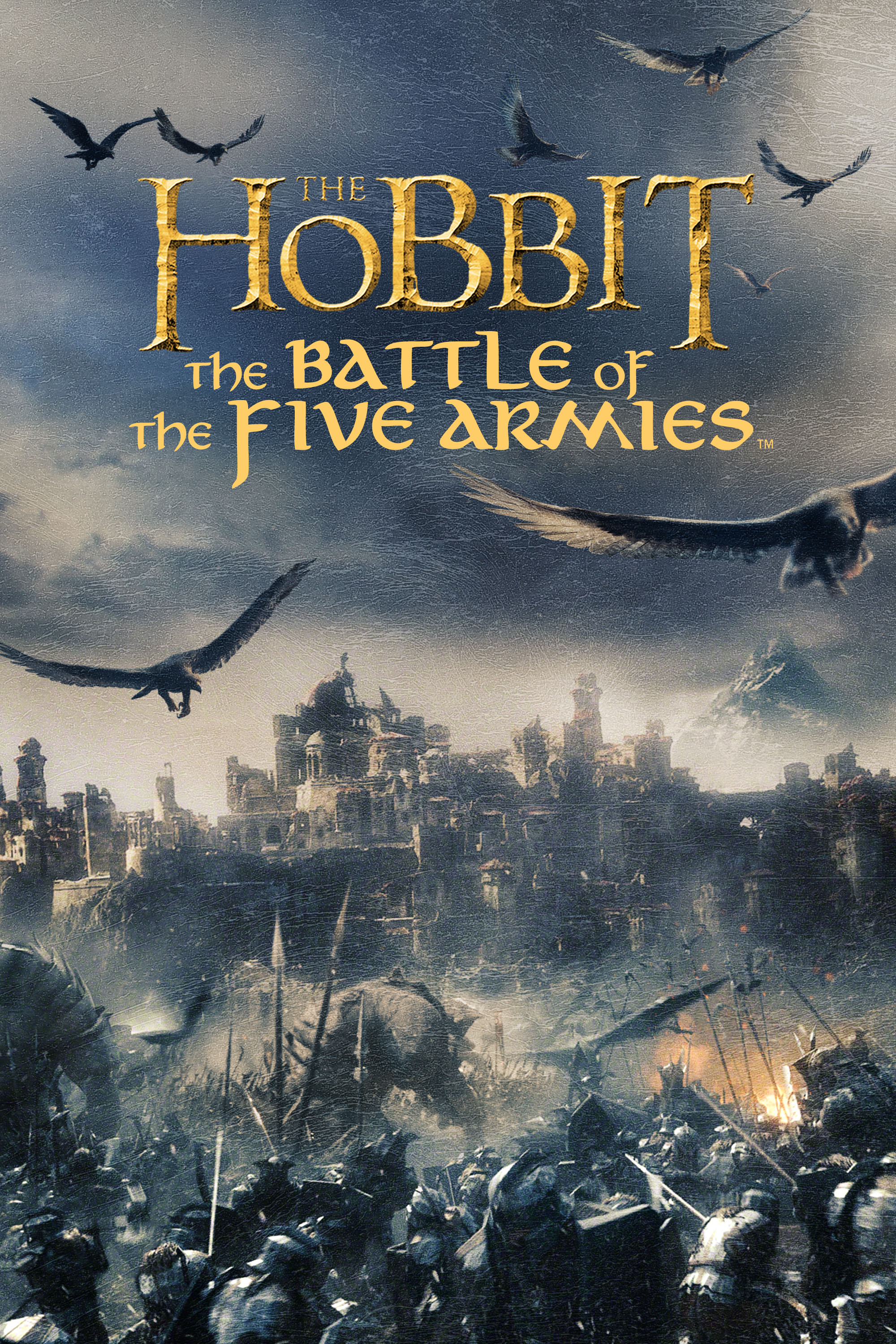"cover design for ""The Hobbit: The Battle of the Five Armies"""