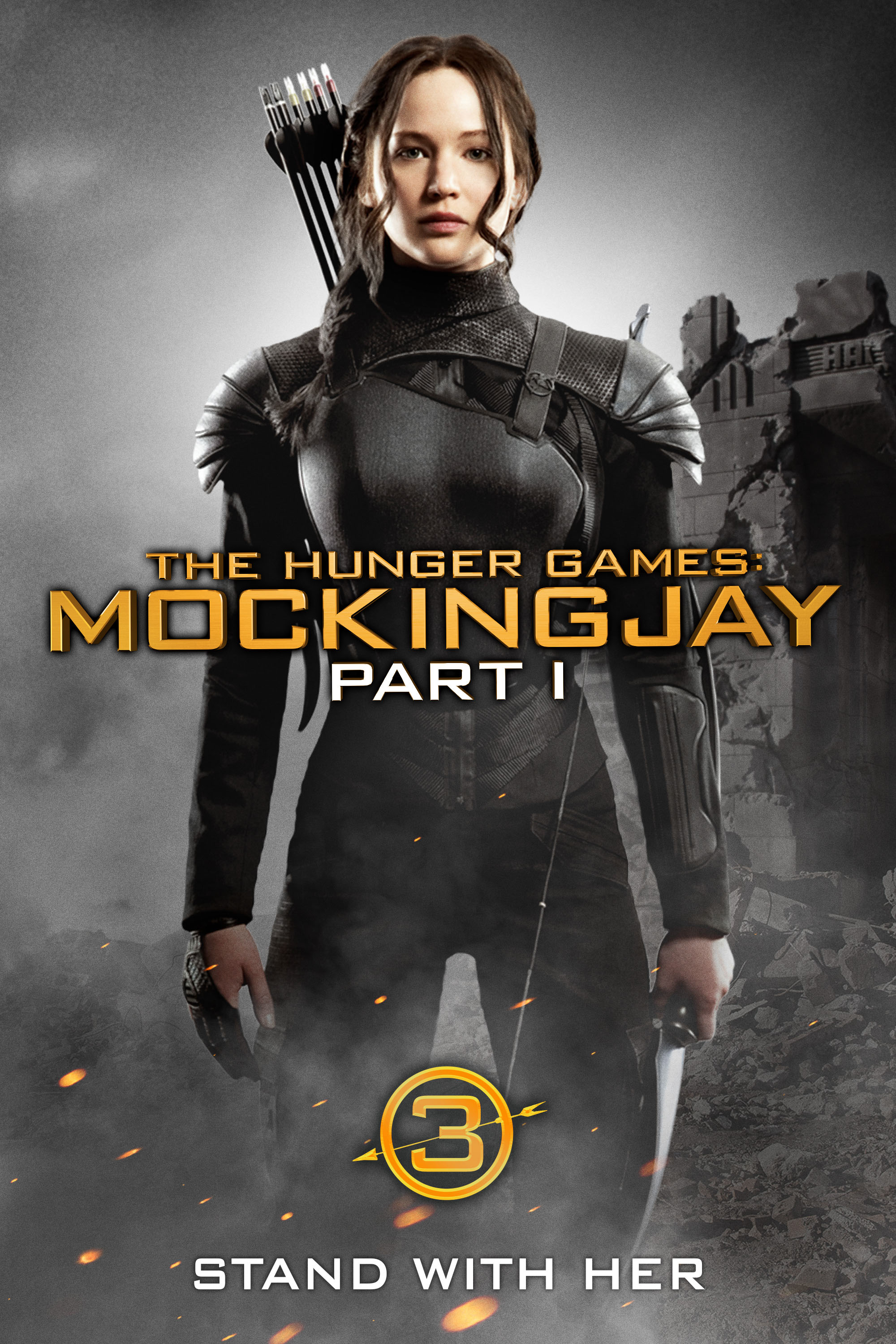 "cover design for ""The Hunger Games: Mockingjay Part 1"""