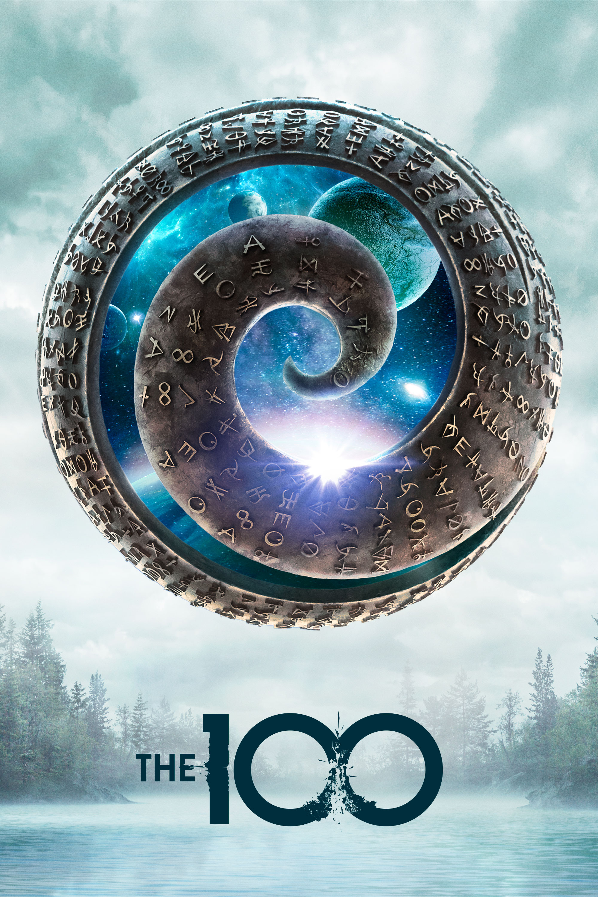 "cover design for ""The 100"""